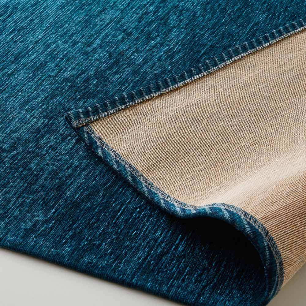 Gradation/グラデーション ベルギー製シェニール織ラグ 裏面