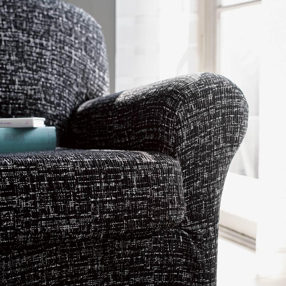 スペイン製フィットカバーAndrea/アンドレア ソファカバー アームなし [色見本]ブラック系 ※写真はアーム付きタイプです。