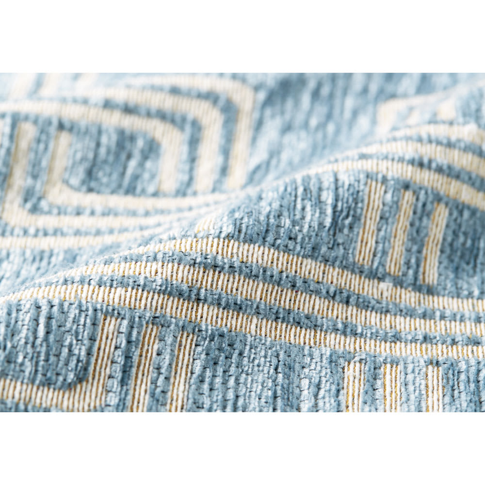 イタリア製マルチクロス[リタ] ソファカバー ライトブルー(WEB限定) シェニールと綿混の糸で織り上げた、心地よい肌触りの生地。