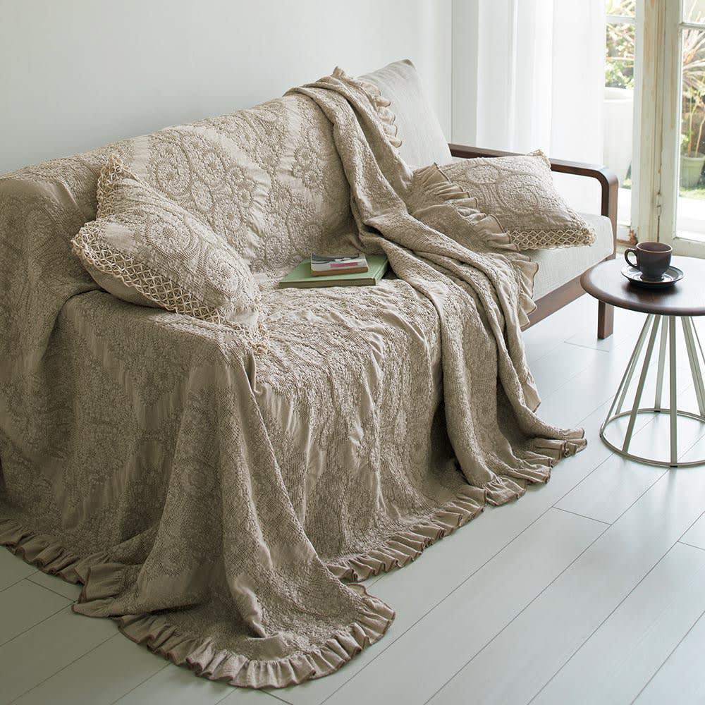 French Linen/フレンチリネン ヘリンボーン織カバーリング ピローケース(1枚)
