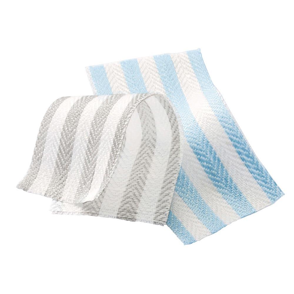 French Linen/フレンチリネン ヘリンボーン織カバーリング ピローケース(1枚) 左から(ア)グレー(イ)ライトブルー