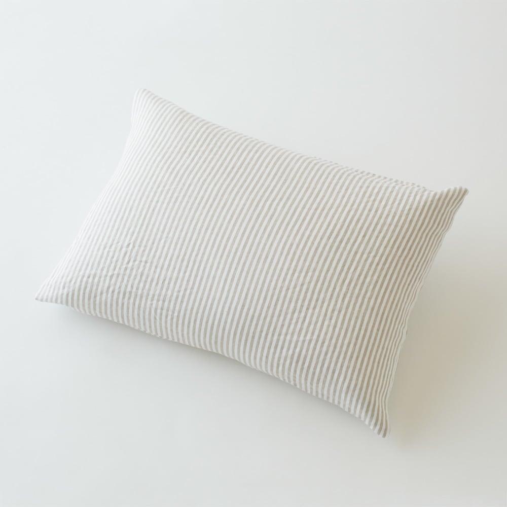 French Linen/フレンチリネン ヘリンボーン織カバーリング ピローケース(1枚) (ウ)ナチュラル(WEB限定色)