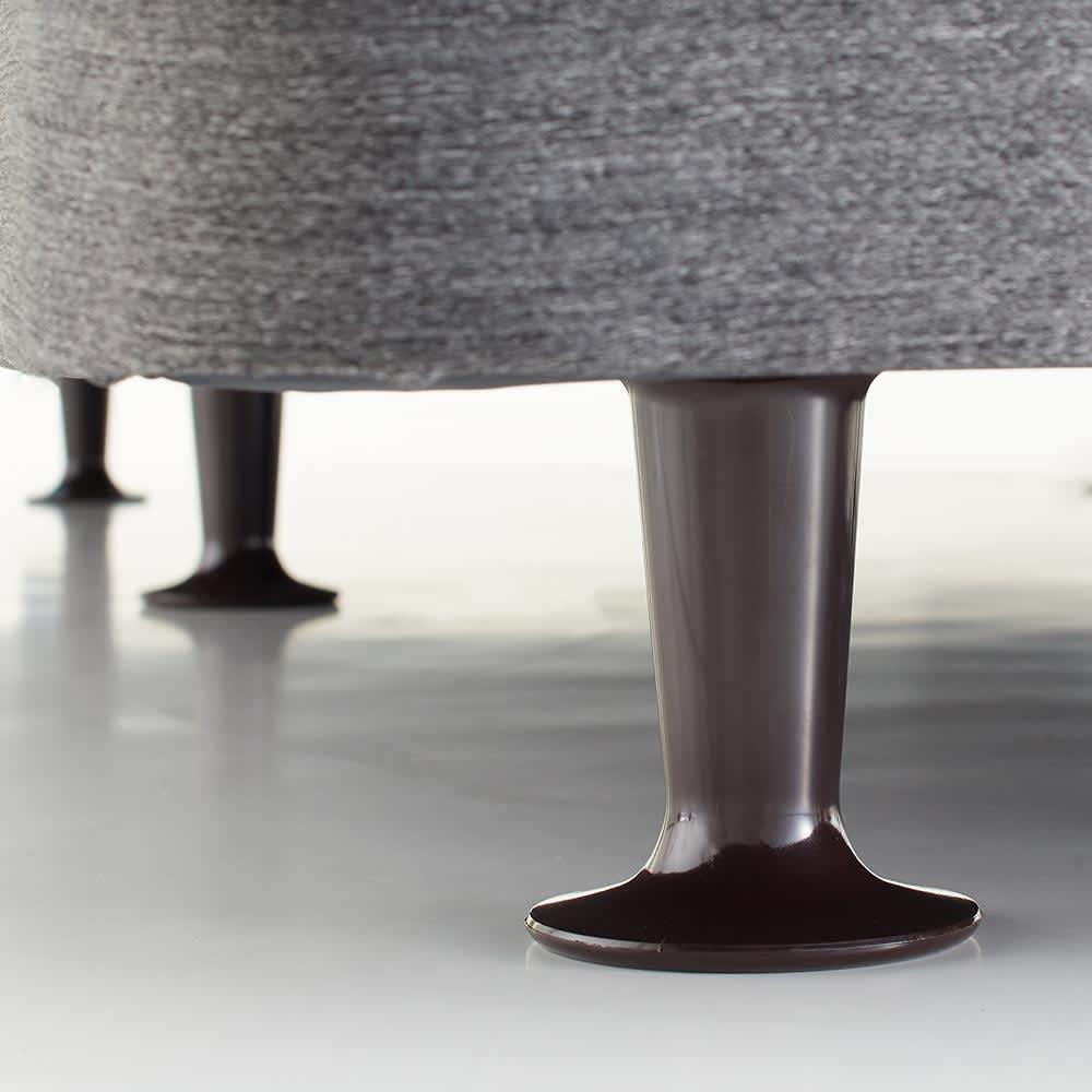Sealy/シーリー ダブルクッションヘッドレス・マットレスベッド 長さ208cm 脚の高さは10cmとなります。