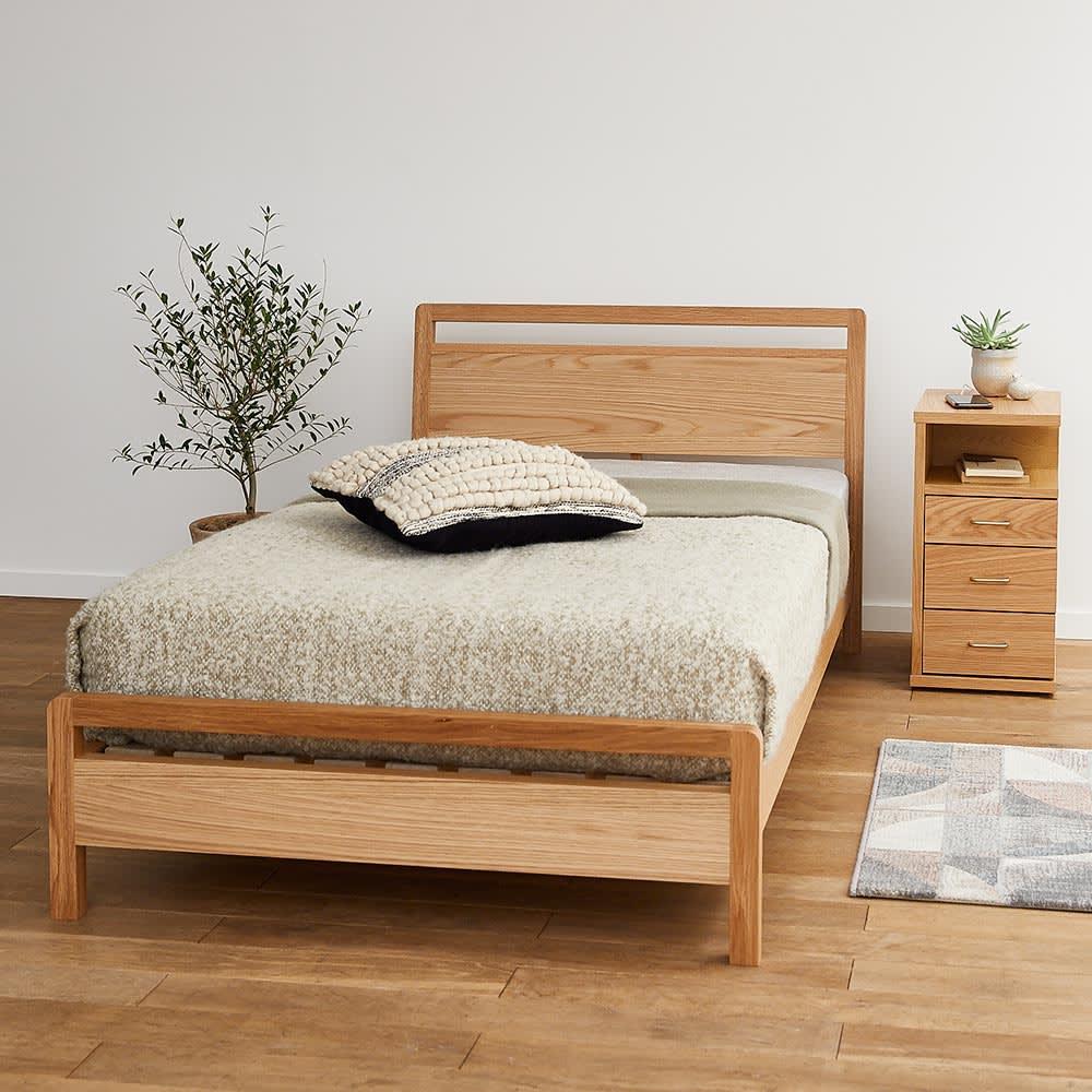 MARK/マーク 木製ベッド ホワイトオーク ベッドフレームのみ