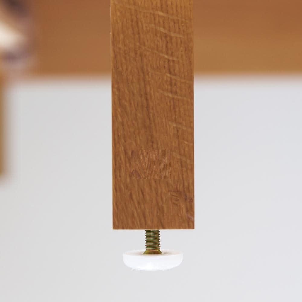 MARK/マーク 木製ベッド ホワイトオーク ポケットコイルマットレス 高さ調節できる脚部アジャスター付き。