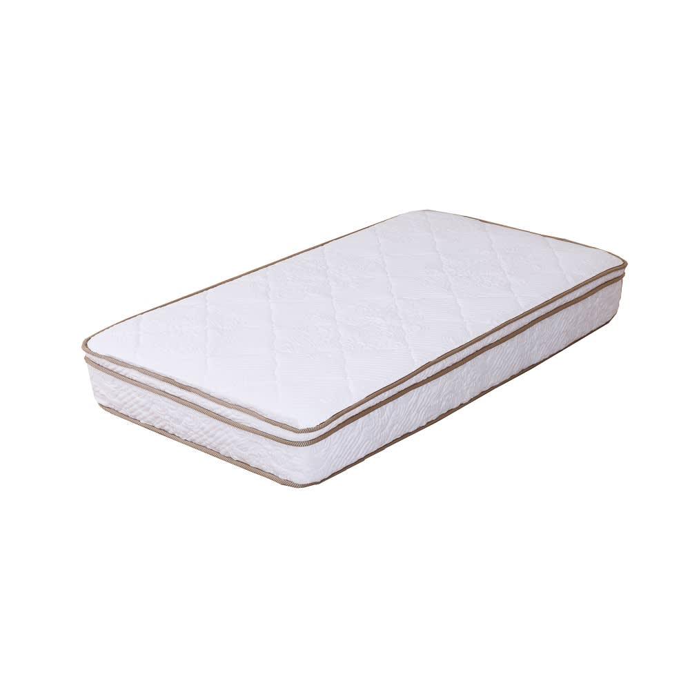 国産ユーロトップポケットコイル ウォルナット MARK/マーク 木製ベッド 優れた体圧分散を叶えるユーロトップポケットコイルマットレス