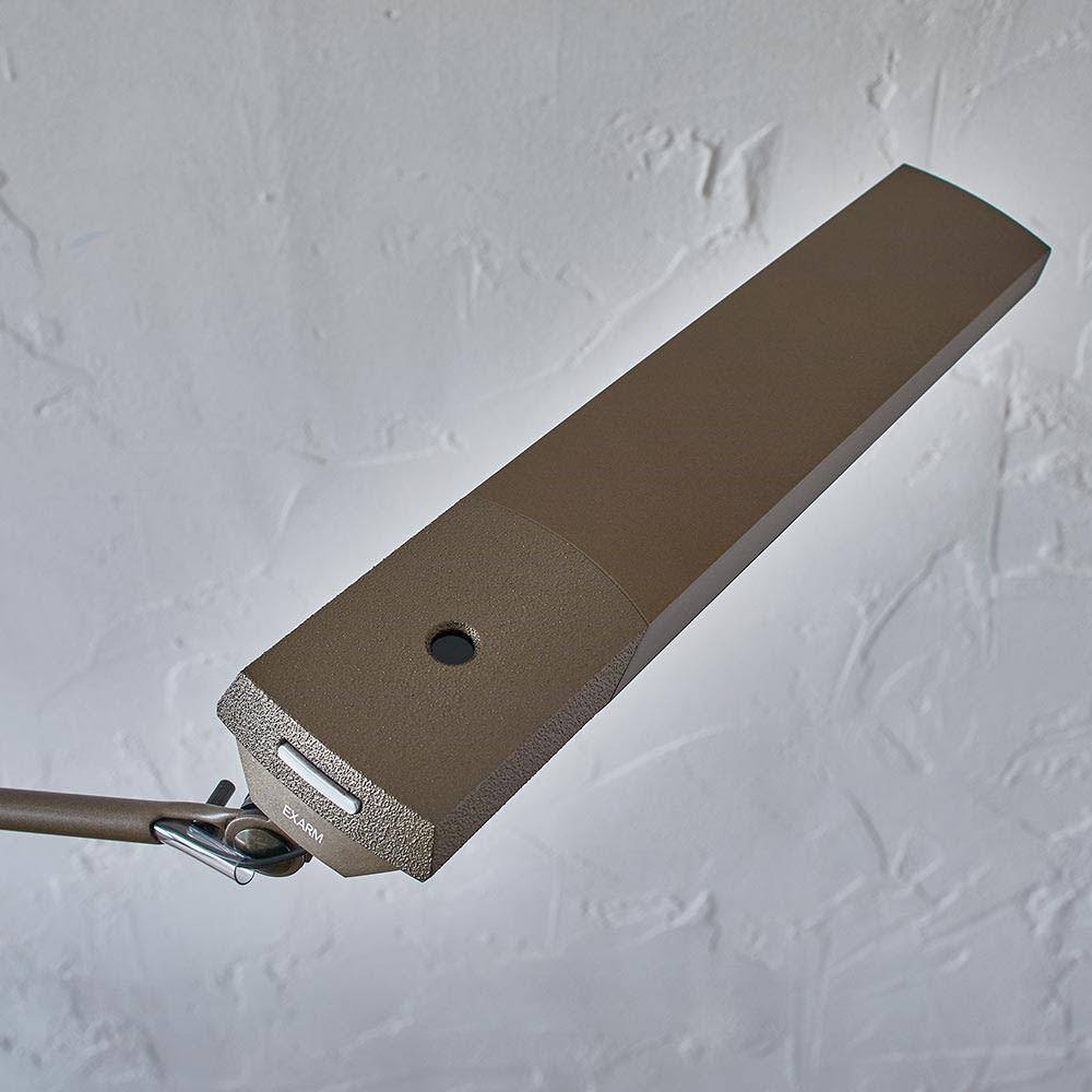 向きと高さを自由に変えられる センサー式LEDデスクライト エグザーム(EXARM)ライト 照明上部アップ
