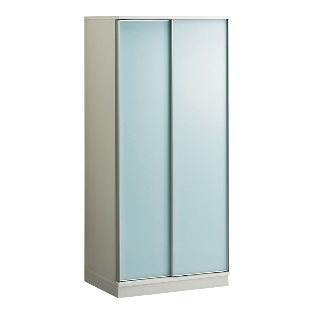 Milath/ミラス スライドワードローブ ガラス扉タイプ 幅80.5cm H81506