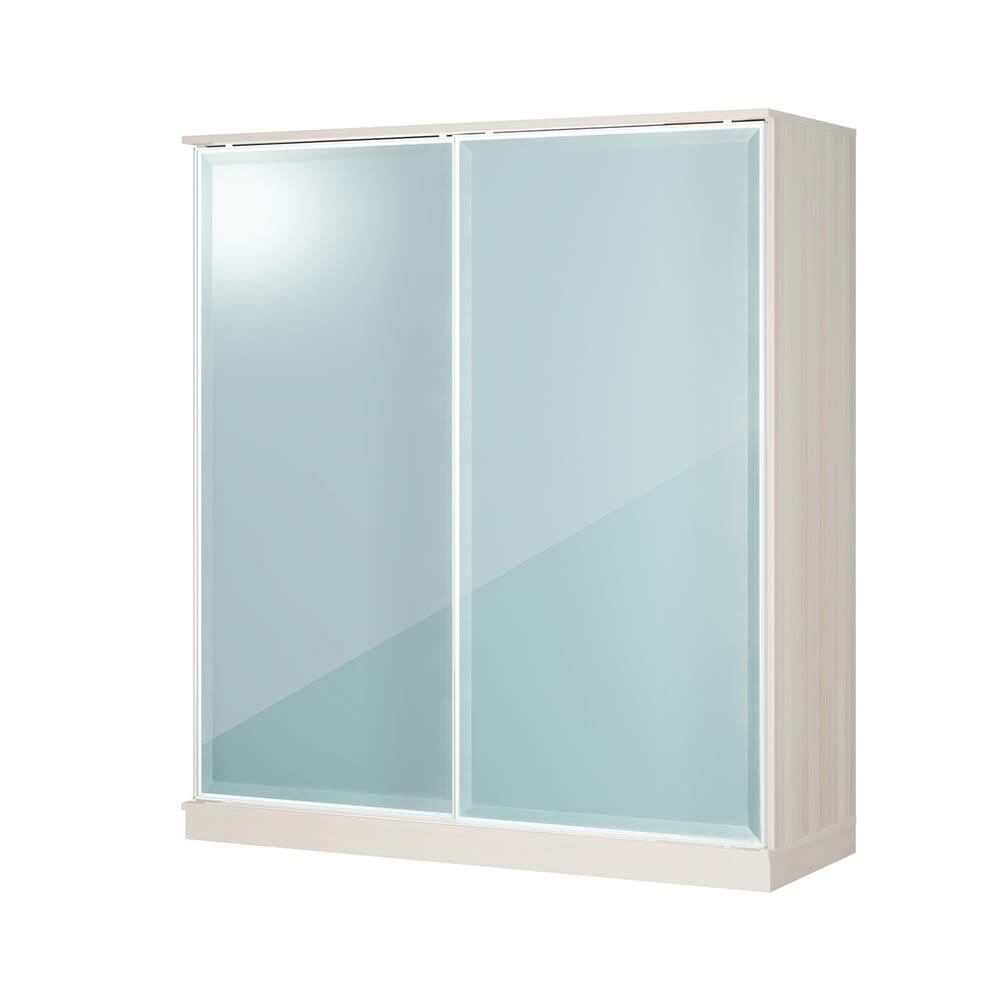 Milath/ミラス スライドワードローブ ガラス扉タイプ 幅160.5cm H81510