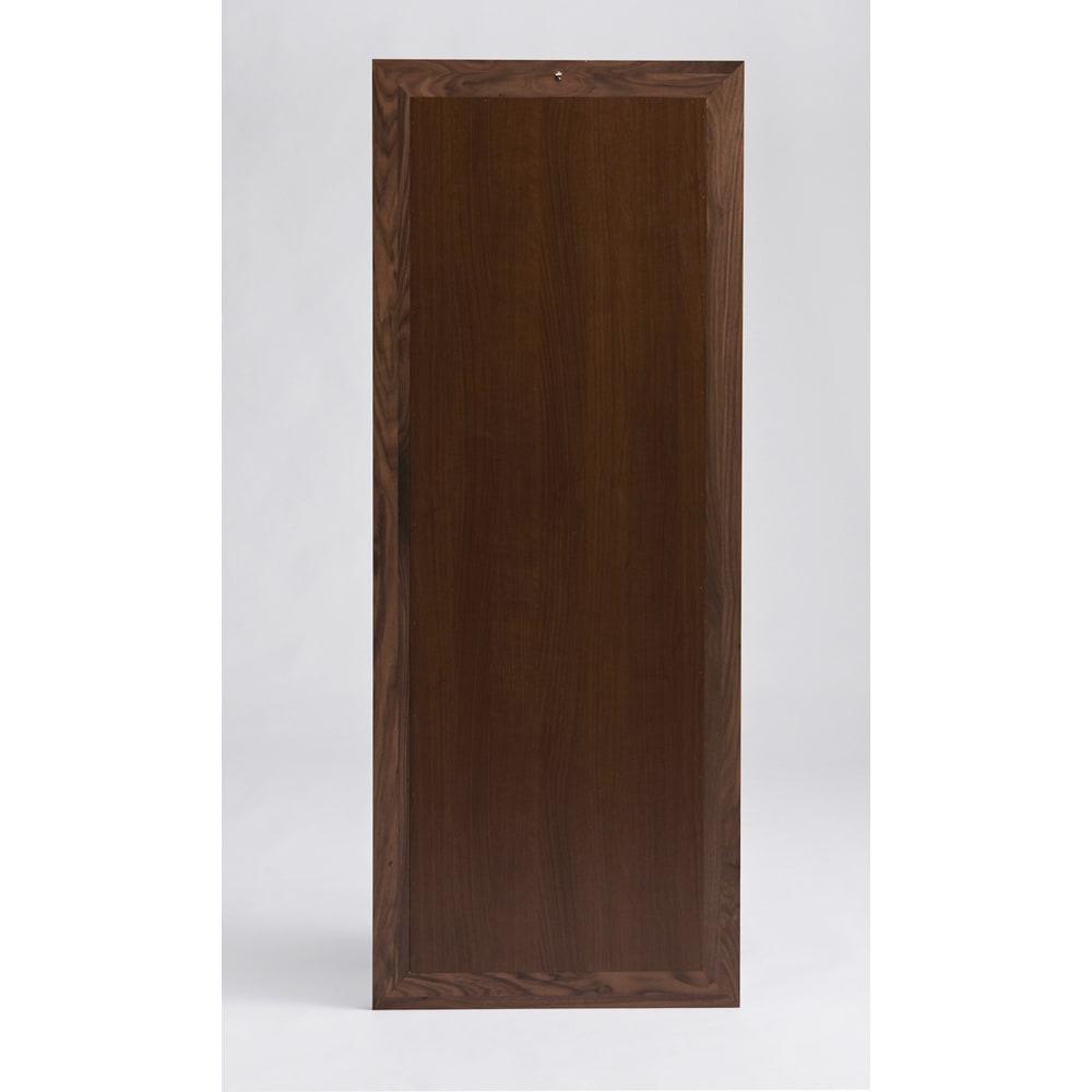 ウォルナット天然木 大型立て掛けミラー 背面も綺麗な化粧仕上げ