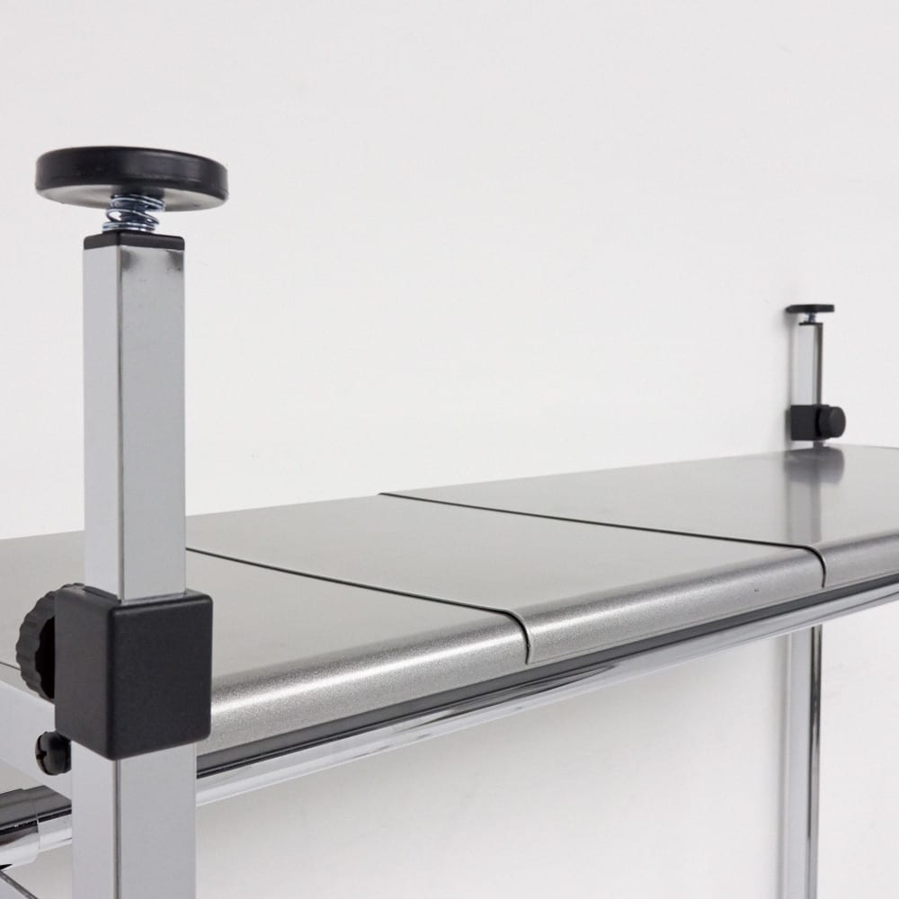 Varie(バリエ) クローゼットハンガーラック 幅120cm~200cm対応 収納棚も隙間なく伸縮できます。奥行36cmなのでバッグや箱物が置けます。