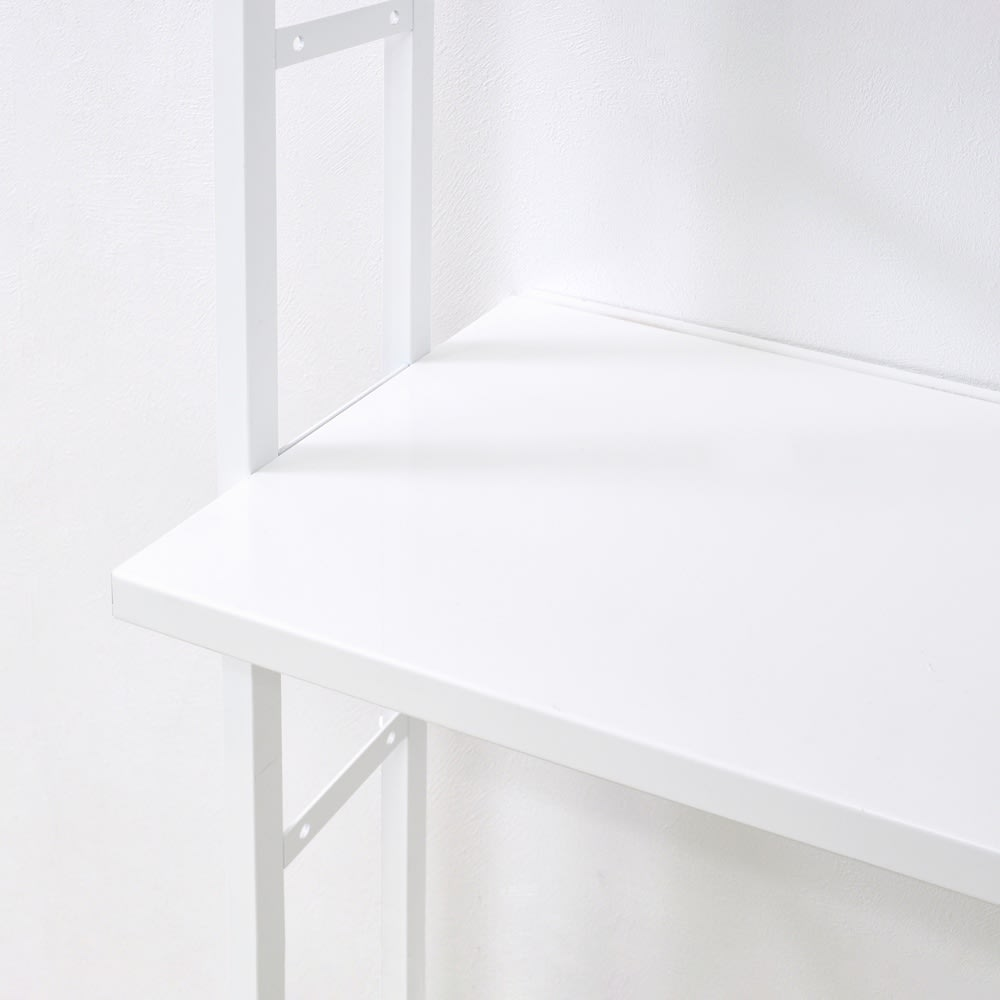 Struty(ストラティ) ラックシリーズ ハンガー2本&棚3段・幅85cm 棚板は収納物に合わせて高さが変えられる可動式です。