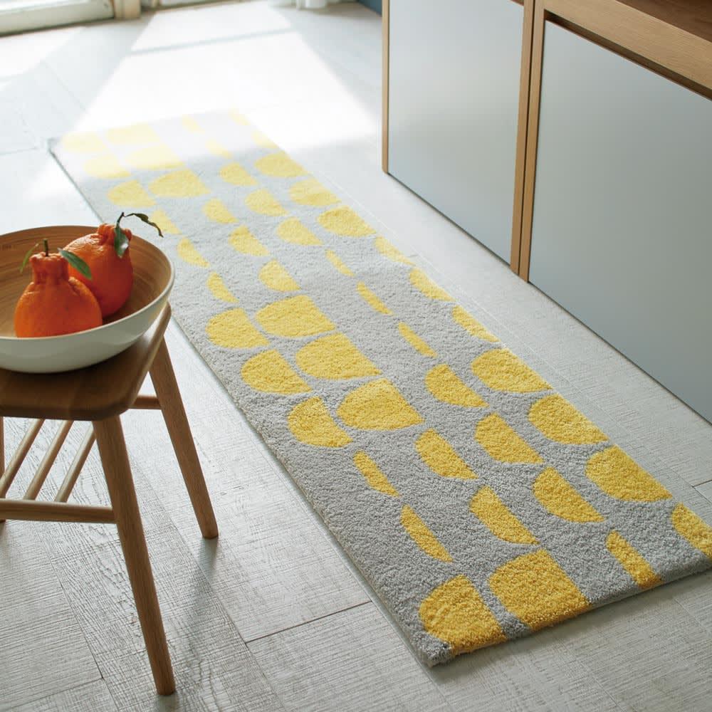 Finlayson PAJATSO/パヤッツオ フック織マット (イ) グレー (画像は約50×200サイズです)