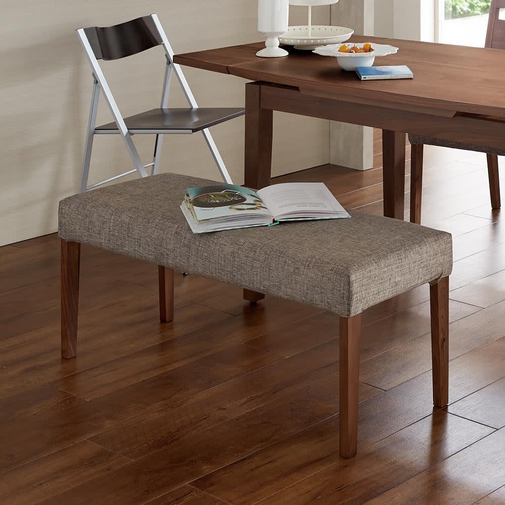 家具 収納 イス チェア ベンチ 暮らしにぴったりサイズのウォルナットダイニング ベンチ H76405