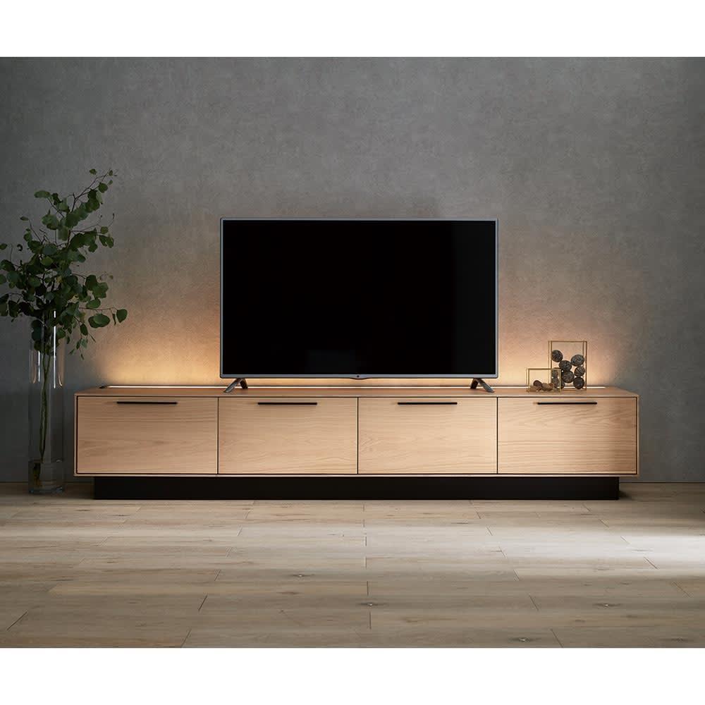 Glint/グリント LED照明付きテレビ台 幅240cm H78313
