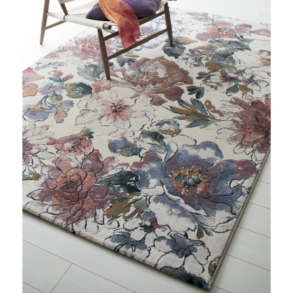 ベルギー製ウィルトン織りラグ〈フィデリオ〉 ピンク系 約160×230cm