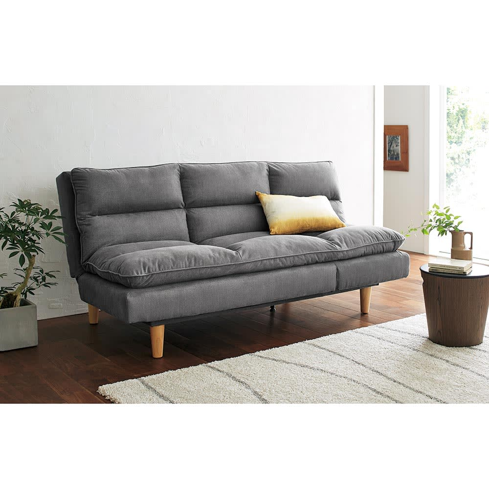 Tredirezi/トレディレジー 3wayソファベッド どんなスタイルにマッチする、グレー生地のソファベッド