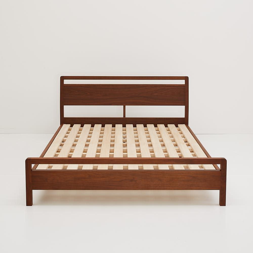 ワイドダブル ベッドフレームのみ ウォルナット MARK/マーク 木製ベッド H81218