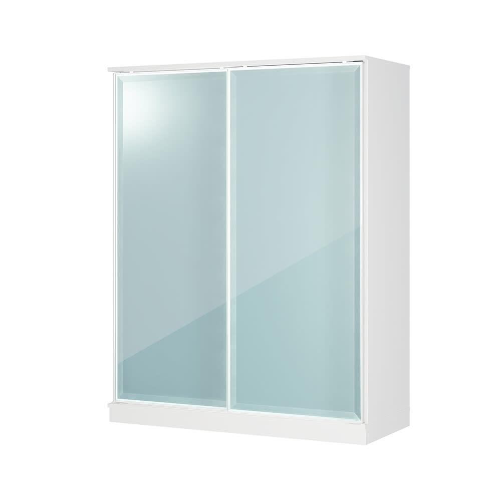 Milath/ミラス スライドワードローブ ガラス扉タイプ 幅140.5cm H81509