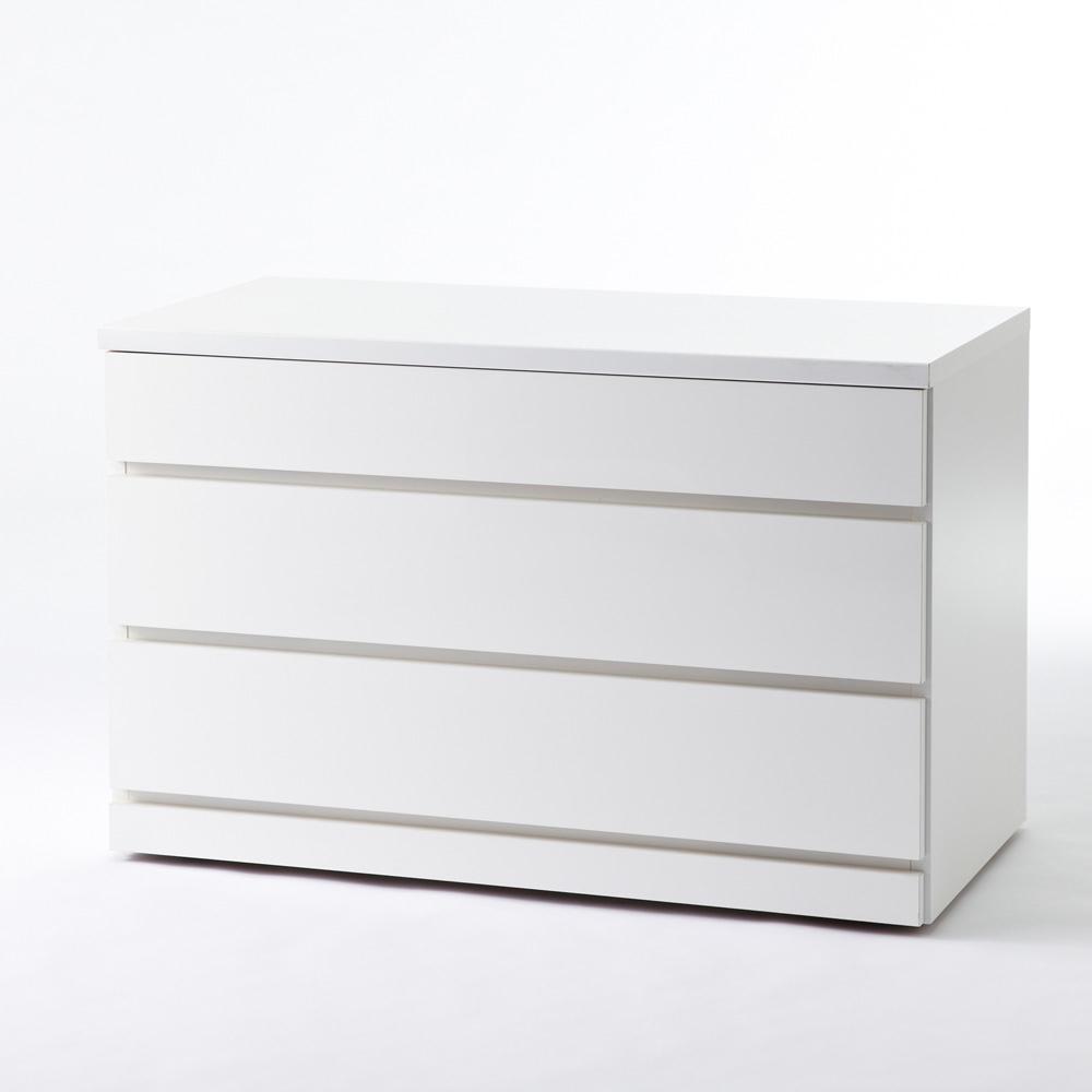 クローゼットチェスト(隠しキャスター付き) 幅90cm・3段 こちらの商品は【幅90cm・3段タイプ】です。