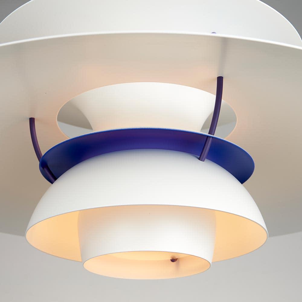 ペンダントライト PH 5 [Louis Poulsen・ルイスポールセン/デザイン:ポール・ヘニングセン] 点灯状態