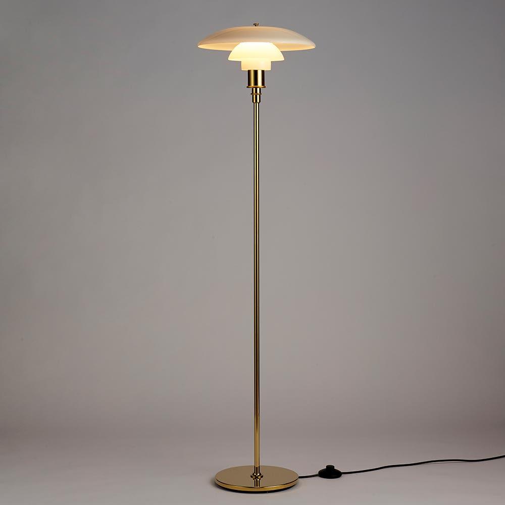 フロアライト PH 3 1/2-2 1/2[Louis Poulsen・ルイスポールセン/デザイン:ポール・ヘニングセン] 点灯状態