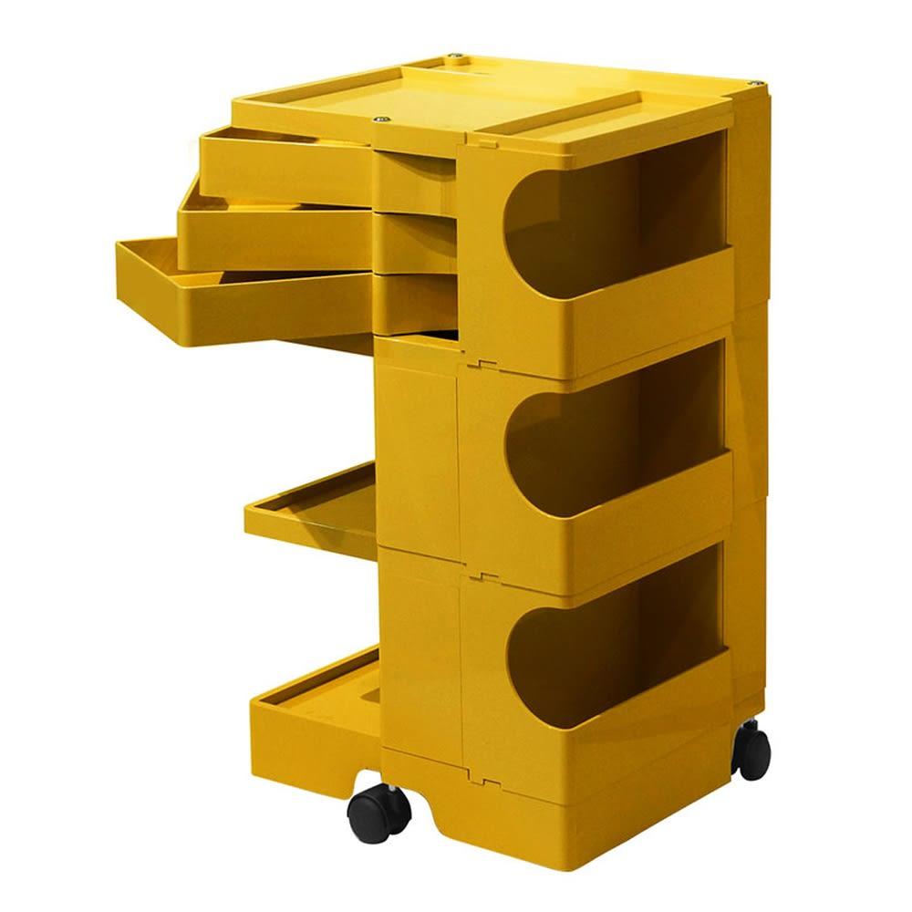 Boby Wagon/ボビーワゴン イエロー・グレータイプ[B-LINE・ビーライン/デザイン:ジョエ・コロンボ] 3段3トレイ・イエロー