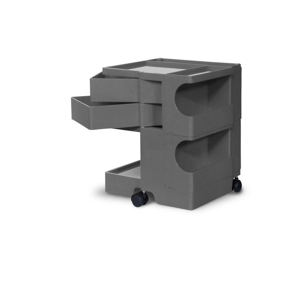 Boby Wagon/ボビーワゴン イエロー・グレータイプ[B-LINE・ビーライン/デザイン:ジョエ・コロンボ] 2段2トレイ・グレー