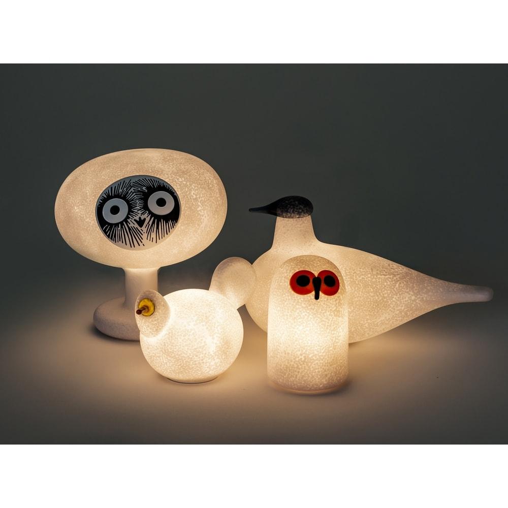 マジス/イッタラ バードライト スーロS LINNUT/リンナット[MAGIS・マジス iittala・イッタラ/デザイン:オイバ・トイッカ] 柔らかい光がオブジェとしてもインテリアライトとしても楽しめる一品。