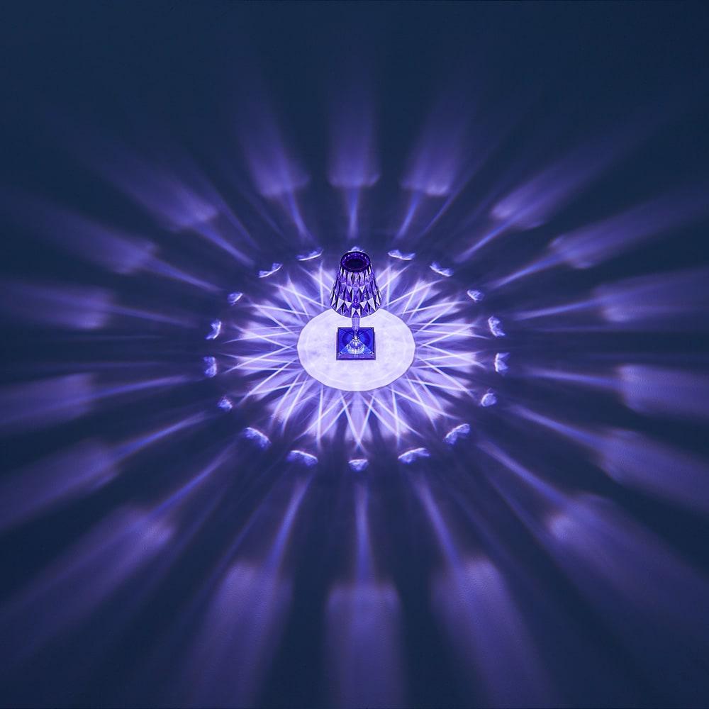 Battery/バッテリー 充電式テーブルランプ・テーブルライト [Kartell・カルテル/デザイン:フェルーチェ・ラヴィアーニ] ブルー