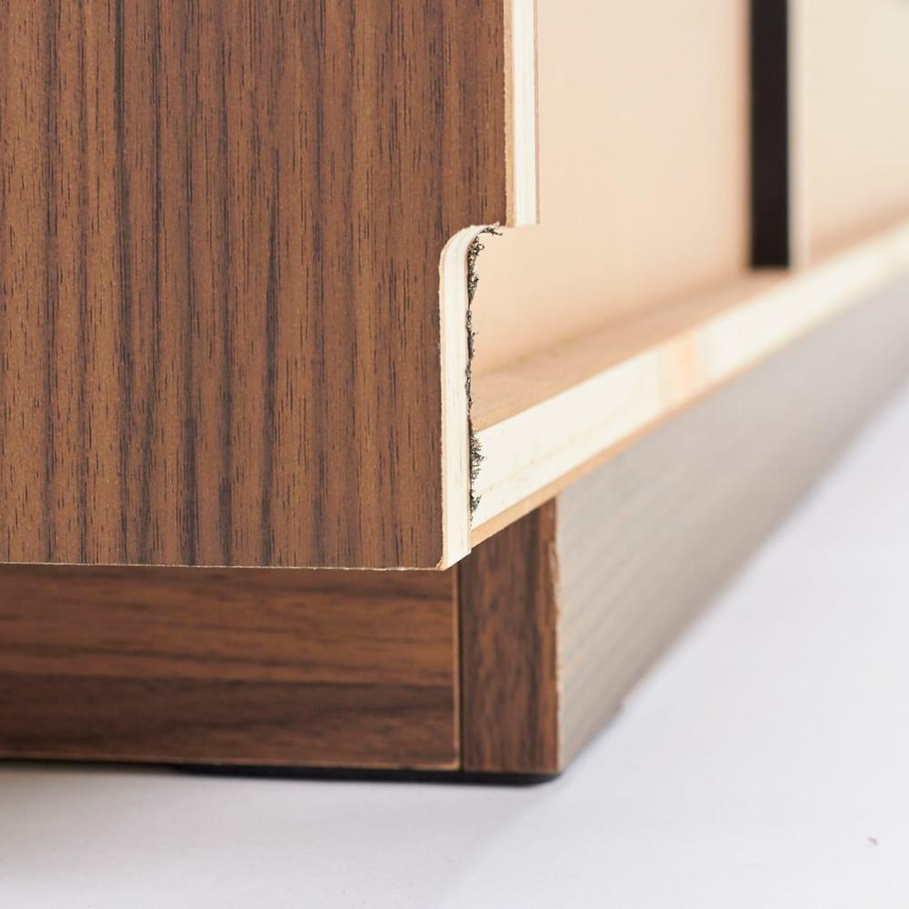 AlusStyle/アルススタイル  リビングシリーズ テレビ台 幅200.5cm 背面は幅木カット仕様で壁にぴったり設置可能です。