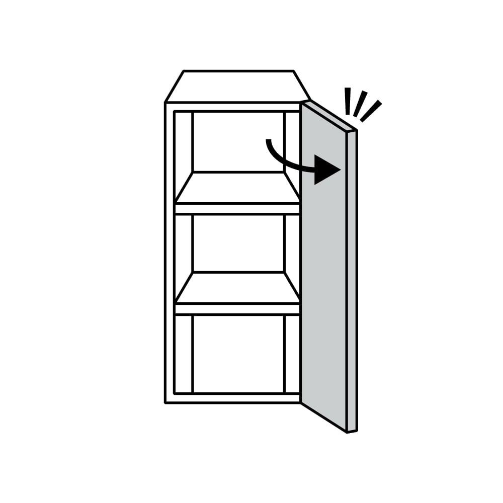 AlusStyle/アルススタイル リビングシリーズ サイドキャビネット 幅40cm・右開き こちらの商品は右開きの扉です