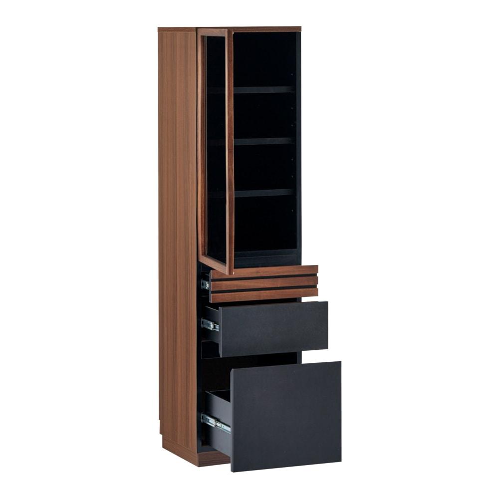 AlusStyle/アルススタイル 薄型ホームオフィス ブックシェルフ幅40.5cm 左開き
