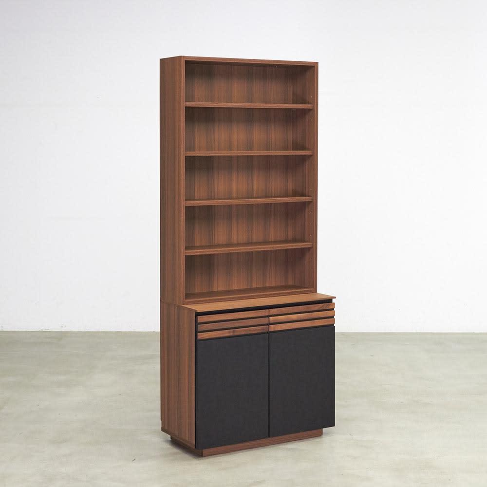AlusStyle/アルススタイル シェルフシリーズ 上台:オープン&下台:扉 幅80cm高さ192cm お届けの商品はこちらです。