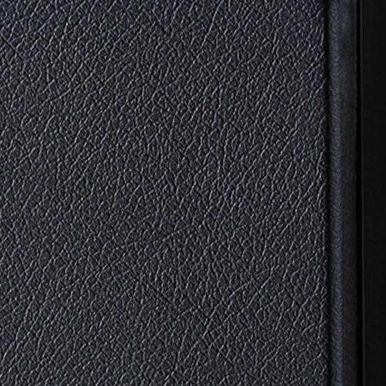 AlusStyle/アルススタイル カウンター下収納庫 3枚扉 幅120cm高さ84.5cm 【レザー調の表面材】扉表面は質感を引き締めるブラック。