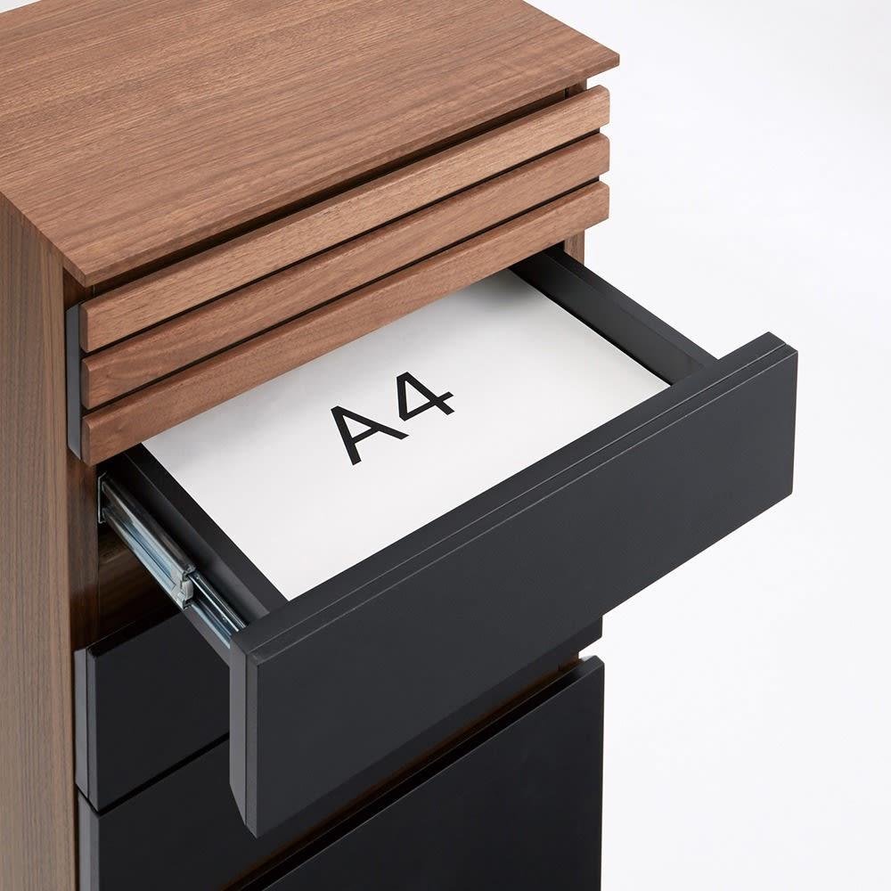 AlusStyle/アルススタイル ルーター収納書類チェスト A4タイプ高さ120cm こちらのタイプはA4サイズの紙の収納にピッタリの引き出し付き。書類や学校のプリントなどの収納に。