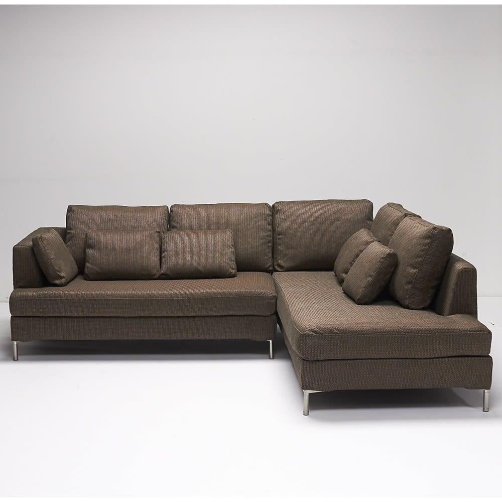 Slimleg(スリムレッグ)  カバーリングソファ コーナーソファセット座って右 ブラウン ※写真はソファセット座って左タイプです。