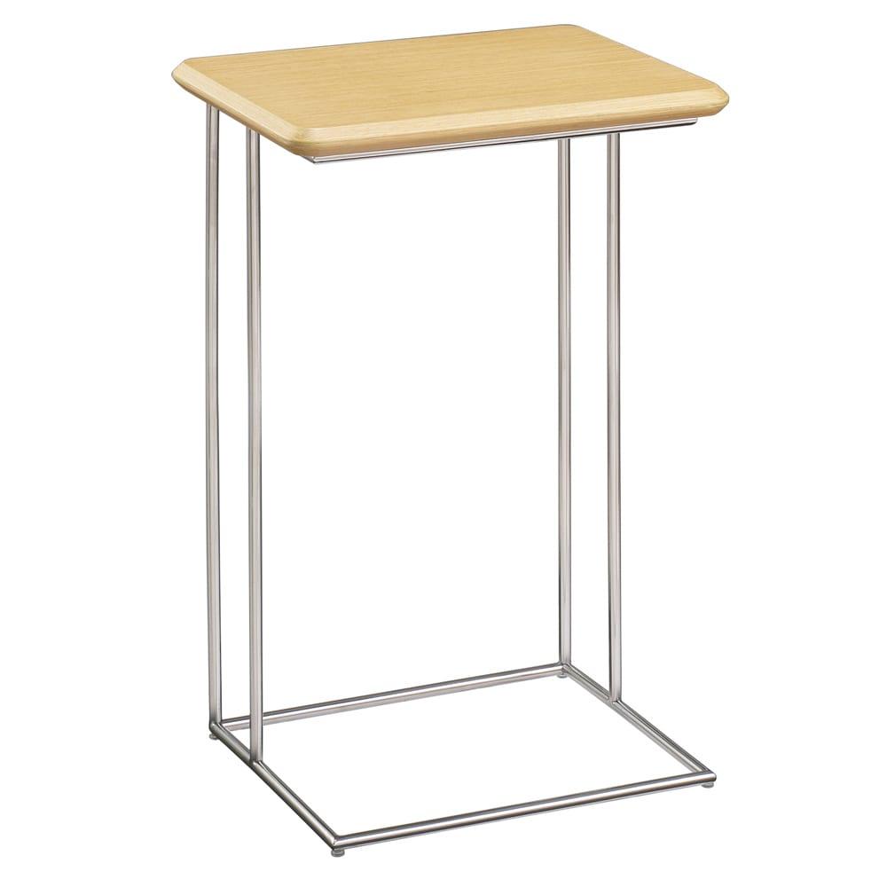 家具 収納 テーブル 机 サイドテーブル ナイトテーブル ステンレス脚のソファテーブル 高さ65cm H83415