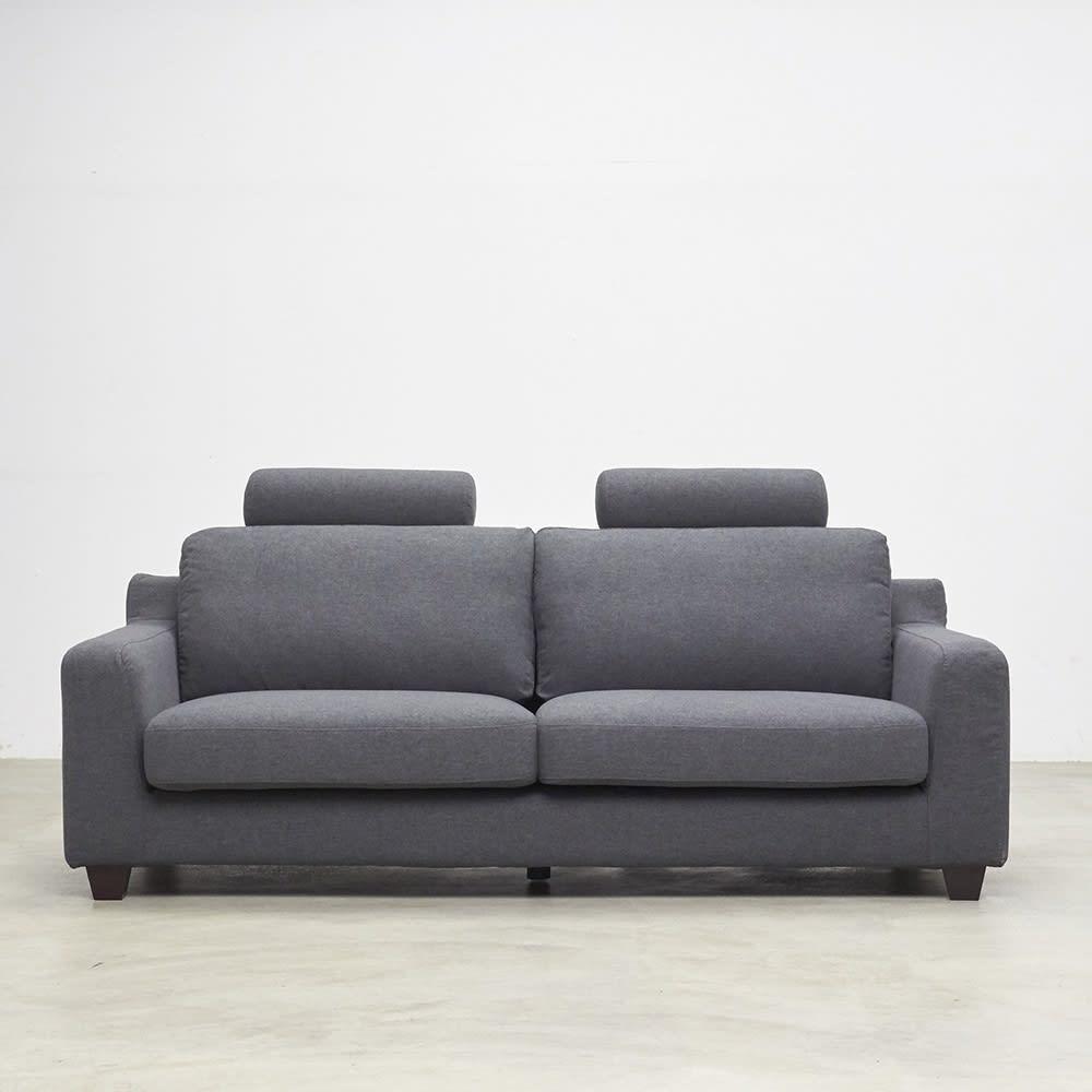 Monista/モニスタ カバーリングフェザーソファ ヘッドレスト付 3人掛け ソファ正面からのイメージ
