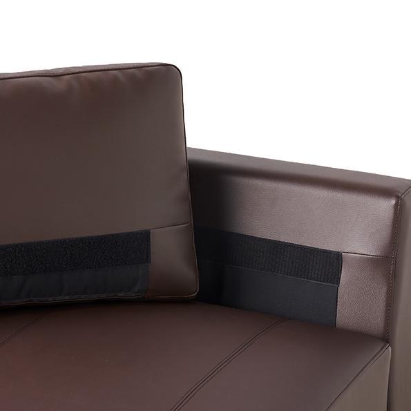 Divanol/ディバノール フロアソファ 右肘 背もたれ部分は、面テープで固定ができます。