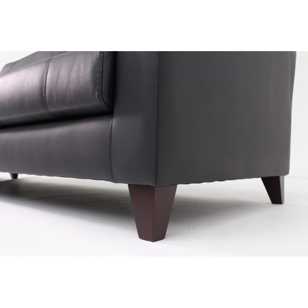 本革・レザーソファシリーズ トリプルソファ(3人掛け)・幅199cm 脚部内寸:高さ10cm 掃除もしやすい高さです。