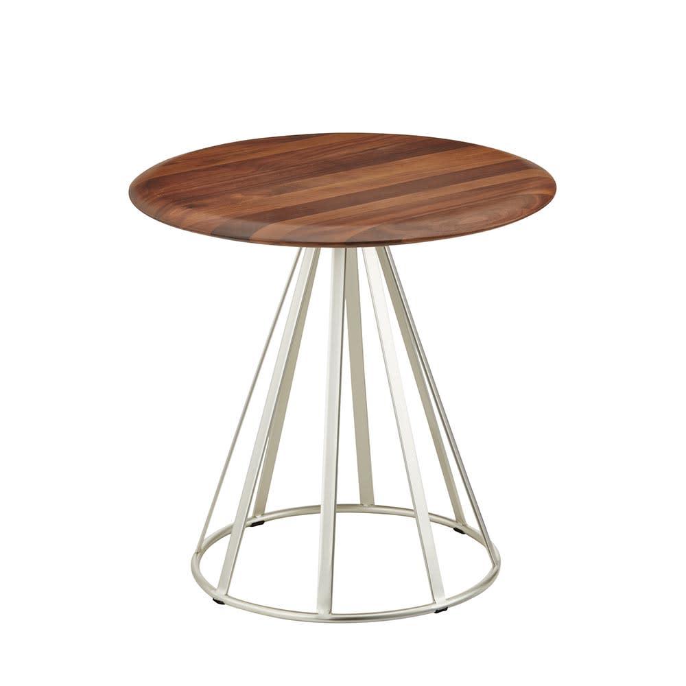 ラディア サイドテーブル 径44cm 高さ41cm ウォルナット