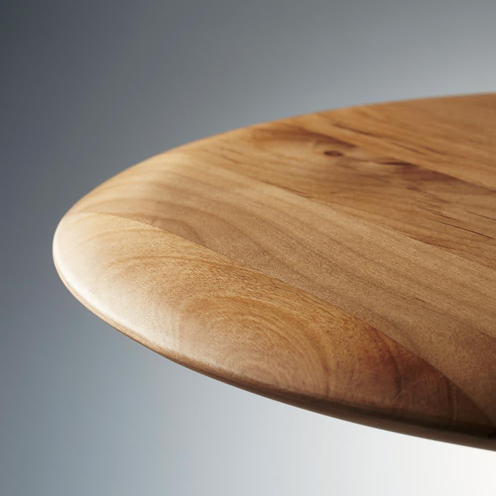 ラディア サイドテーブル 径44cm 高さ41cm ナチュラル(天板部分アップ)