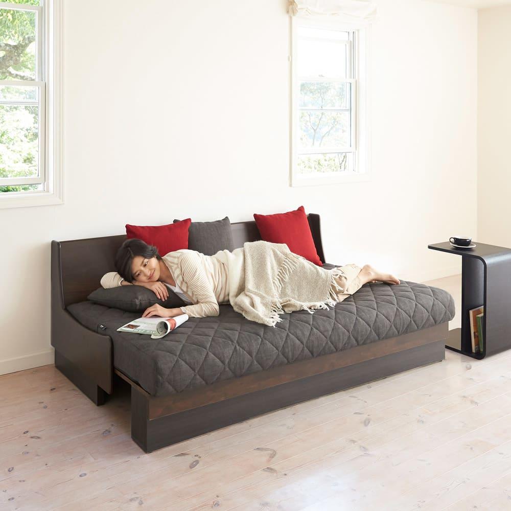Licol/リコル ソファベッド 幅200 [国産] リビングでのごろ寝にもピッタリ