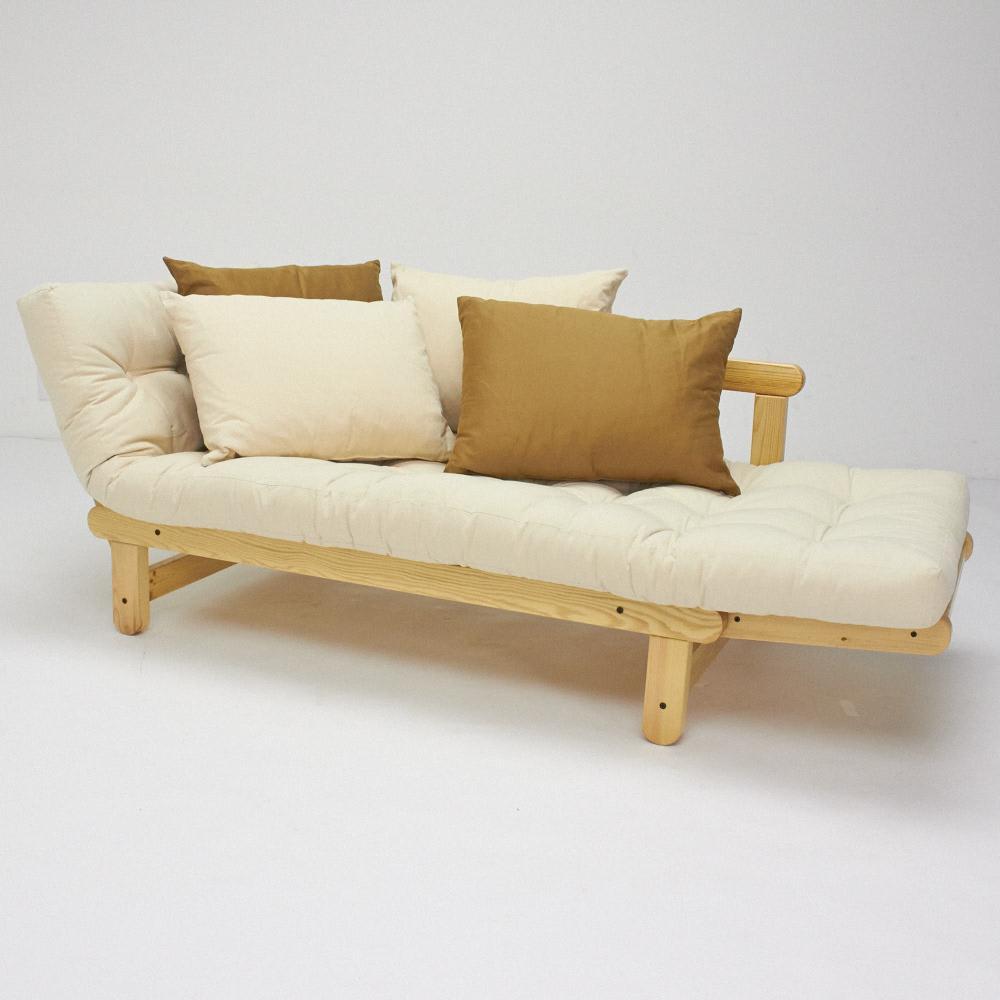 ヨーロッパ製カウチソファベッド Karup カーラップ  FutonII/フートン マットレスの奥行きが深いのでベッドとしても十分な広さです