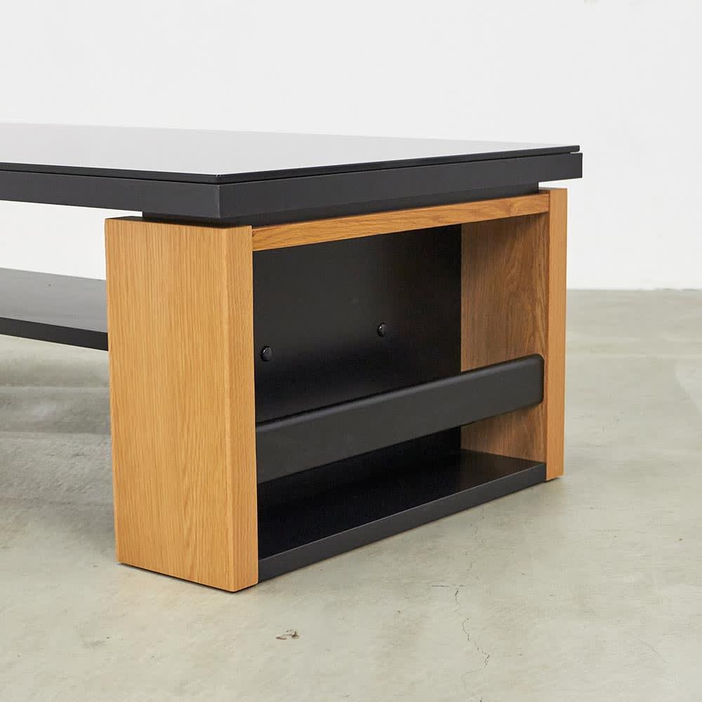 Cestbeau/セヴィウ 収納付きガラス天板テーブル