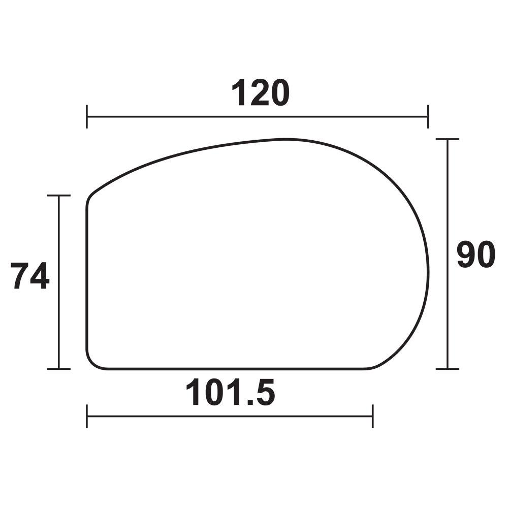 折れ脚コミュニケーションローテーブル 幅120cm 平面図(cm)