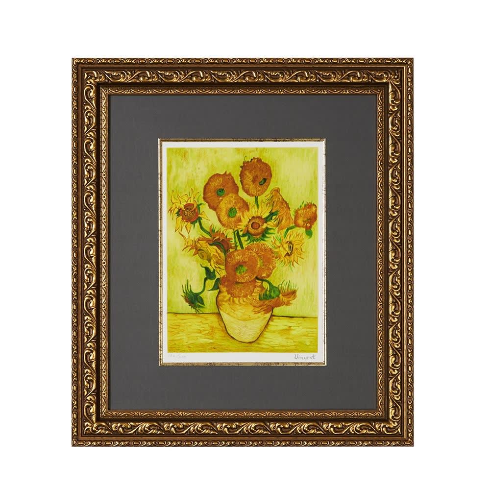 インテリア雑貨 日用品 アート 絵画 カレンダー アートフレーム 壁掛け ゴッホのジグレー版画 H84101