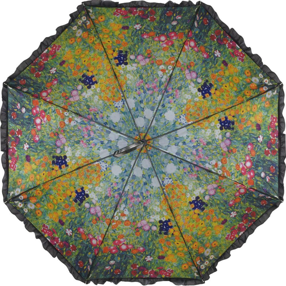 名画フリルジャンプ傘&折りたたみ傘セット ジャンプ傘(イ)クリムト(フラワーガーデン)