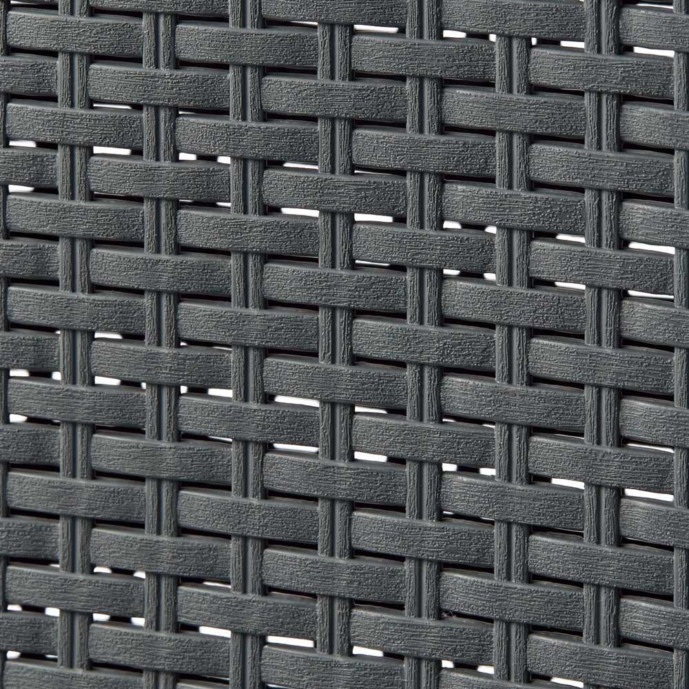 蓋付き 樹脂製 バスケット 40L タテ 同色2個組 (ウ)グレー
